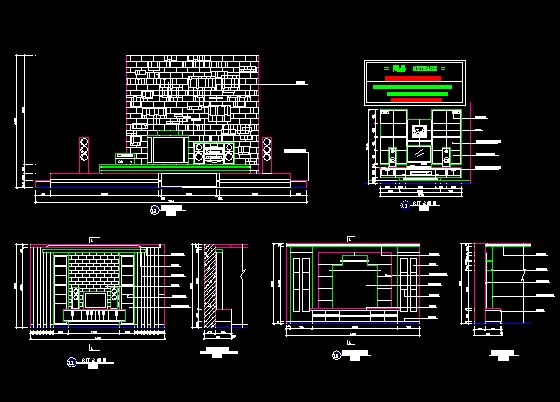 TV Wall Free Download AutoCAD Blocks Cad3dmodelfree
