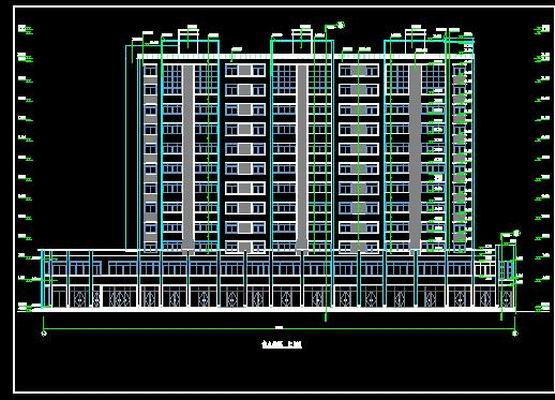 Hotel Front Elevation Cad Drawings : Commercial and residential high level free download