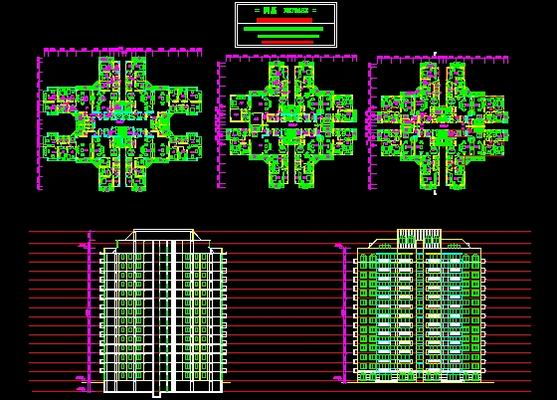 High rise residential design free download autocad blocks for Residential building drawings download