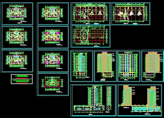 Residential Building Plans Free Download Autocad Blocks