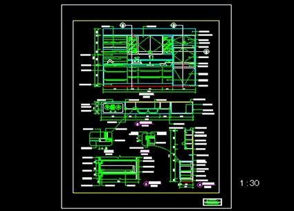 Kitchen Layout Design Of The Decoration Free Download Autocad Blocks