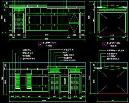 Commercial Design Elevator Lobby Autocad Record Drawing