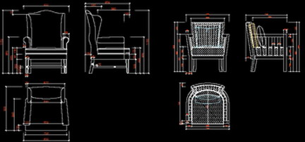 Several of the latest retro-style classic furniture library CAD