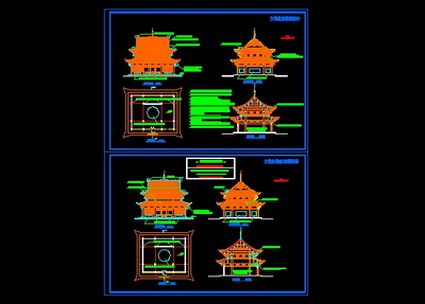 Mahavira Temple drawings,CAD Flat View,CAD Decoration design