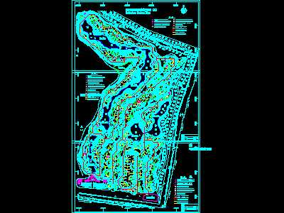 Golf course sprinkler system diagram Free download AutoCAD