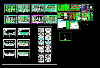 A full set of high-rise apartment Electrical CAD drawings Free