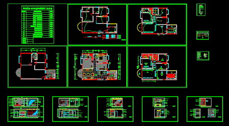 Renovated Three Bedroom Cad Drawings Free Download Autocad Blocks