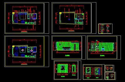 Sprinkle the shop CAD example room decorate diagram