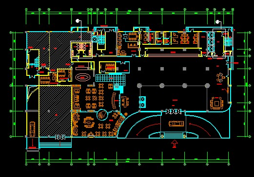 Four-star hotel CAD decorate plan plans Free download ...
