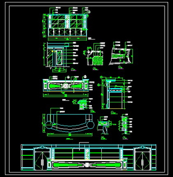 Bar counter CAD drawings