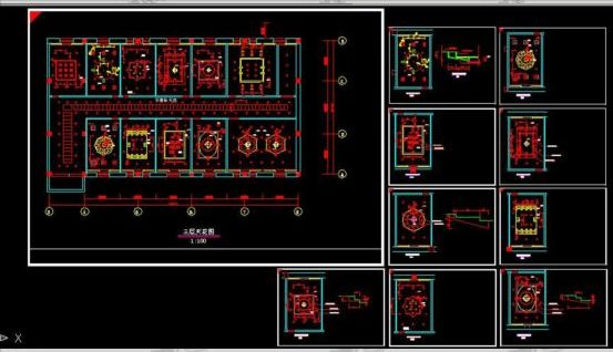 Interior Decoration Ceiling Cad Modeling Free Download