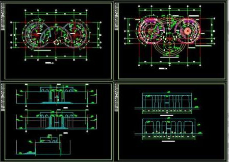 Bath room building cad drawings
