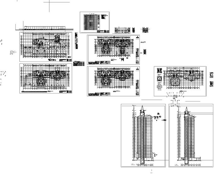 A whole residential building construction drawings free for Residential building drawings download