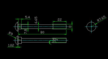 Cylindrical pin CAD drawings