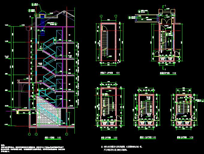 Staircase Cad Detailing Free Download Autocad Blocks Cad