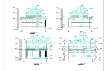 Traditional villa construction drawings