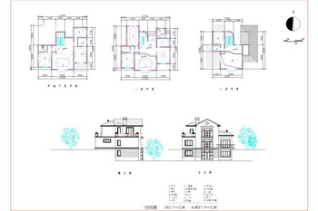 Two-story semi-underground villa CAD drawings