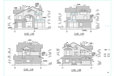 Independence house villa construction plans 2 free House cad drawings