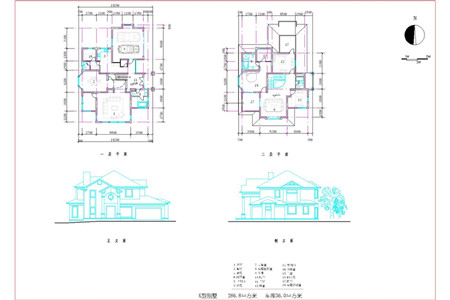 Double Layer J Shaped Villa Building Plans Free Download
