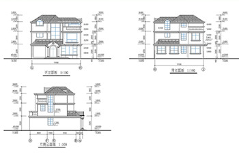 Modern style villa construction plans-2