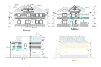 Modern Style Villa Construction Plans 3 Free Download