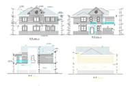 Modern style villa construction plans-3