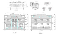 Modern style villa construction plans-4