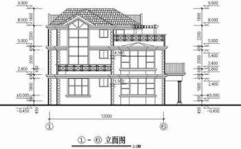 Two story house full set cad drawings free download House cad drawings