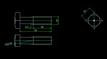 Side head bolt CAD drawings Free download AutoCAD Blocks