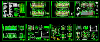 Living floor full set of CAD building plans