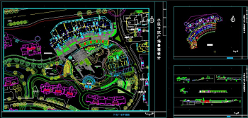 Sunken plaza design CAD drawings