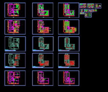 The hotel renovation program cad map