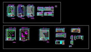 KTV rooms cad renovation plans two