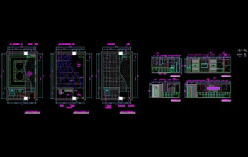 KTV box design CAD drawings