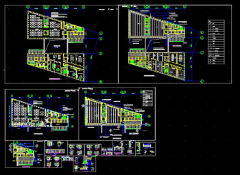 Financial office standard layer CAD renovation plans
