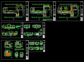 International Regal villas CAD renovation plans