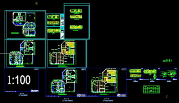 CAD lift lobbies and clubhouse renovation plans