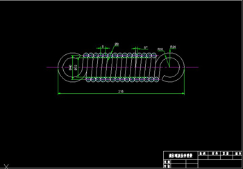 Helical tension spring CAD Drawings