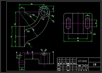 Bracket 2CAD drawings