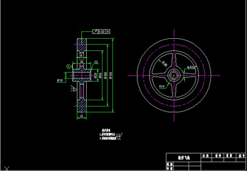 Wheel flywheel CAD drawings