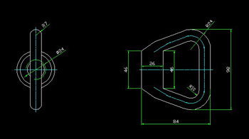 CAD drawings of the ring nut