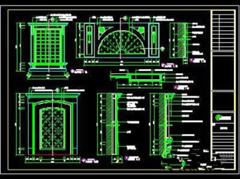 The bathrooms CAD drawing