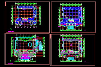 Tax office decoration CAD drawing