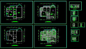 Interior decor CAD drawing