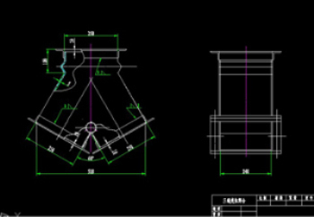Welding sleeve tee CAD drawing