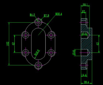 Pump cover CAD drawings