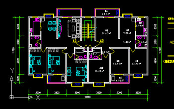 Ordinary residential architectural design CAD drawing