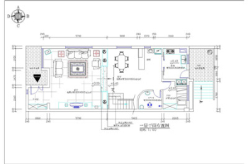 Villa decoration construction CAD drawings