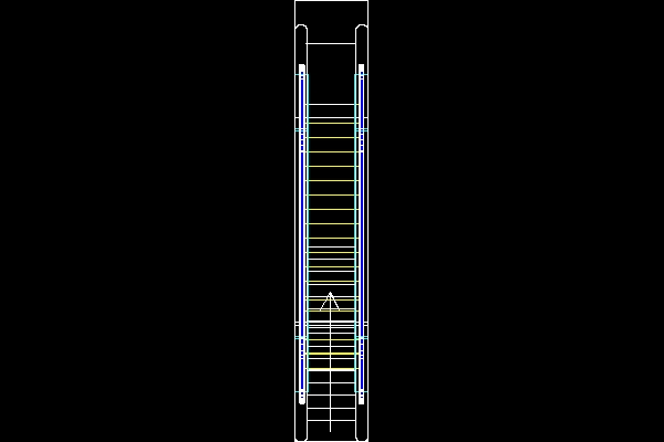 Escalator Front Elevation Dwg : Escalators and elevators model for free download