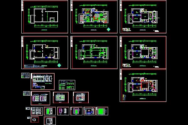 Villa construction plans free download autocad blocks for Villa plan dwg